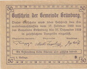 50 Heller (Grünburg) -  reverse