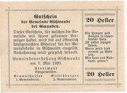 20 Heller (Gschwandt) -  reverse