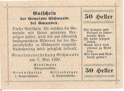 50 Heller (Gschwandt) -  reverse