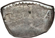1 Escalin (Countermarked coinage) – reverse