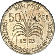 50 Centimes (Piedfort) – reverse
