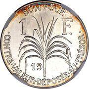 1 Franc (Essai, Silver) – reverse