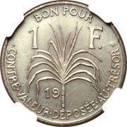 1 Franc (Essai, Bronze) – reverse