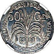 50 Centimes (Essai, Silver) – reverse