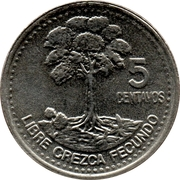 5 Centavos (non-magnetic) -  reverse