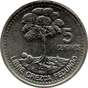 5 Centavos (non-magnetic) -  reverse