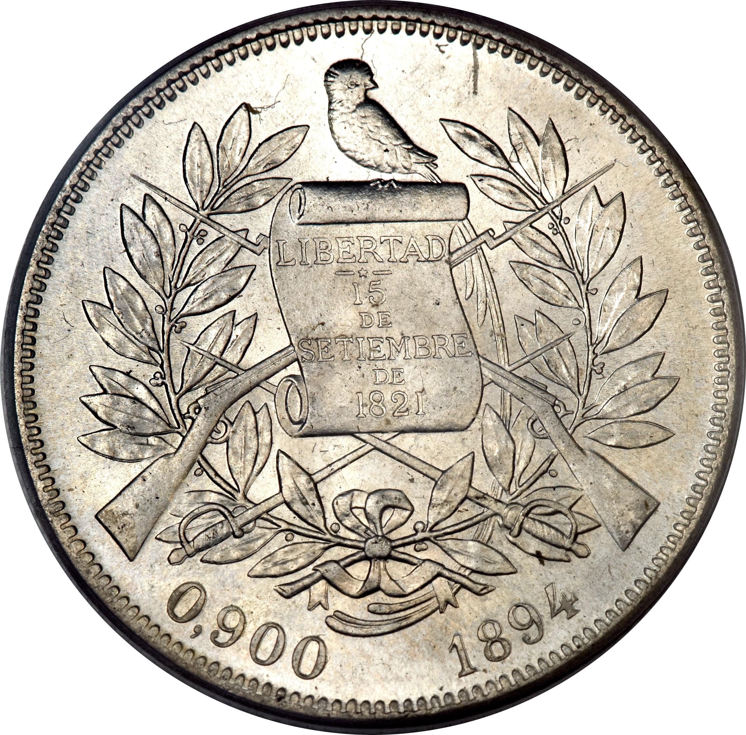 1 Peso Guatemala Numista