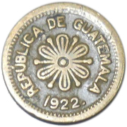 50 Centavos (Provisional coinage) – obverse