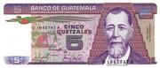 5 Quetzales – obverse