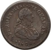 1 Real - Fernando VII (Proclamation coinage) – obverse