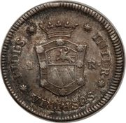 1 Real - Fernando VII (Proclamation coinage) – reverse
