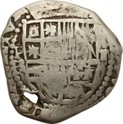 2 Reales - Felipe IV (Provisional countermarked coinage) – obverse