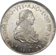 2 Reales - Fernando VII (Proclamation coinage) – obverse