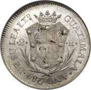 2 Reales - Fernando VII (Proclamation coinage) – reverse
