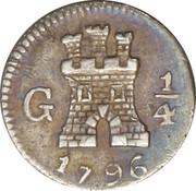 ¼ Real - Carlos IV – reverse