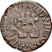 ½ Real - Fernando VII (Royalist coinage) -  obverse