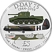 5 Pounds - Elizabeth II (75th anniversary of D-day) – reverse