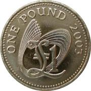 1 Pound - Elizabeth II (4th portrait) -  reverse