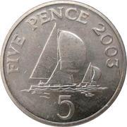 5 Pence - Elizabeth II (4th portrait; non-magnetic) -  reverse