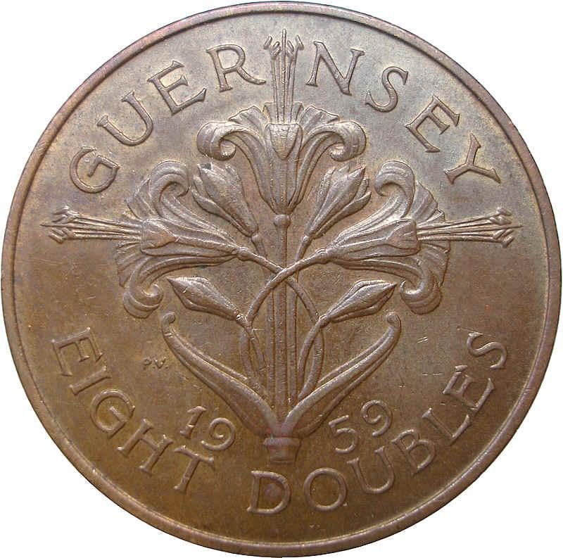 Guernsey 1966 4 /& 8doubles Proof coins