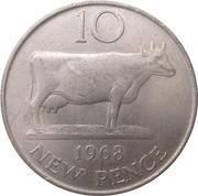 10 New Pence - Elizabeth II – reverse