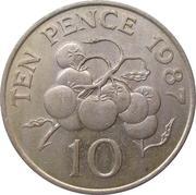 10 Pence - Elizabeth II (3rd portrait; large type) – reverse