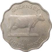 3 Pence - Elizabeth II (Thick Flan) -  reverse