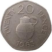 20 Pence - Elizabeth II -  reverse