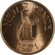 2 New Pence - Elizabeth II – reverse
