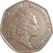 50 Pence - Elizabeth II (3rd portrait; small type) -  obverse