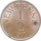 ½ New Penny - Elizabeth II – reverse