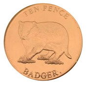 10 Pence - Elizabeth II (Badger) – reverse