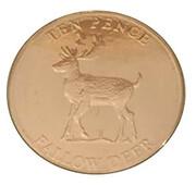 10 Pence - Elizabeth II (Fallow Deer) – reverse