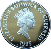 5 Pounds - Elizabeth II (Queen Mother - Silver) -  obverse