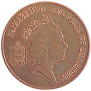 2 Pence - Elizabeth II (3rd portrait; magnetic) – obverse