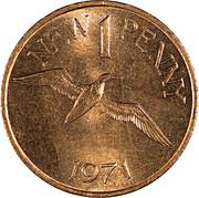 1 New Penny - Elizabeth II – reverse