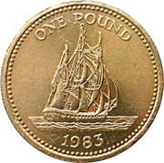 1 Pound - Elizabeth II -  reverse