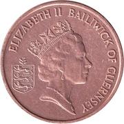 1 Penny - Elizabeth II (3rd portrait; magnetic) – obverse