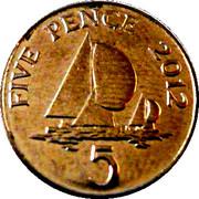 5 Pence - Elizabeth II (4th portrait; magnetic) – reverse