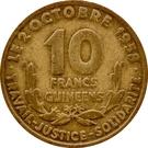 10 Francs Guinéens – reverse