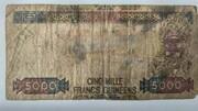 5000 Francs – reverse