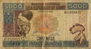 5000 Francs – obverse