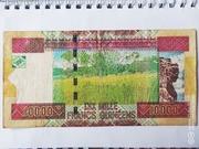 10,000 Francs – reverse
