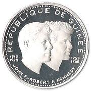 200 Francs Guinéens (John and Robert Kennedy) – obverse
