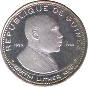 100 Francs Guinéens (Martin Luther King) – obverse