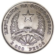 2000 Pesos (XXV Summer Olympics) – obverse