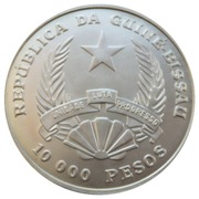 10 000 Pesos (1994 World Cup) – obverse