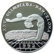 10 000 Pesos (XXV Olympic Games-Floor Exercise) – reverse