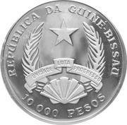 10 000 Pesos (Vulcanodon) – obverse