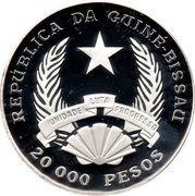 20 000 Pesos (10th Anniversary - L. Cabral Deposed) – obverse